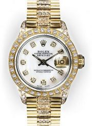 Ladies Mother of Pearl Dial Rolex Super President (413
