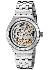Men's Irony Automatic See Through Skeleton Dial Stainless Steel